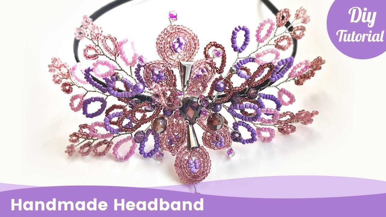 diy headband beads. handmade
