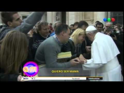 Video: qué le pidió Eugenia Tobal al papa Francisco