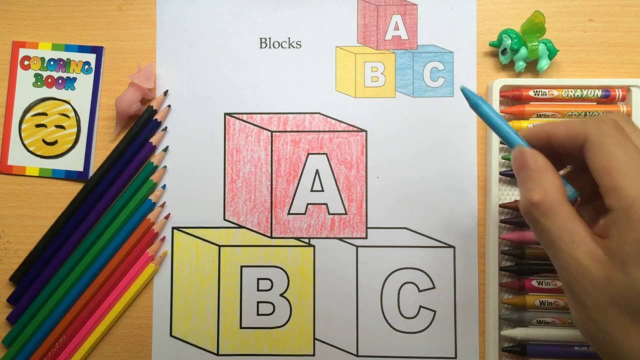 Coloring Pages Of Abc Blocks : Abc block letters plus lots more coloring pages by kids