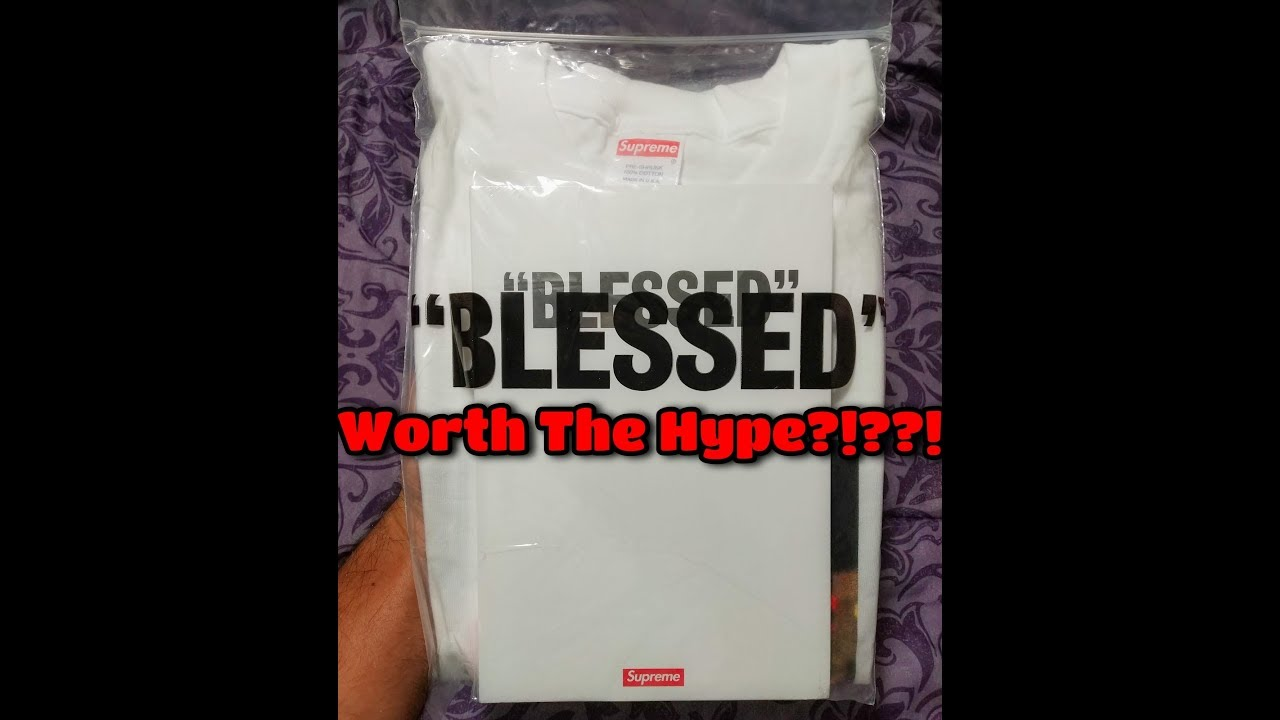70fdbf8d6a4f Supreme Week 14 FW18 Blessed T Shirt Bundle Review - YouTube