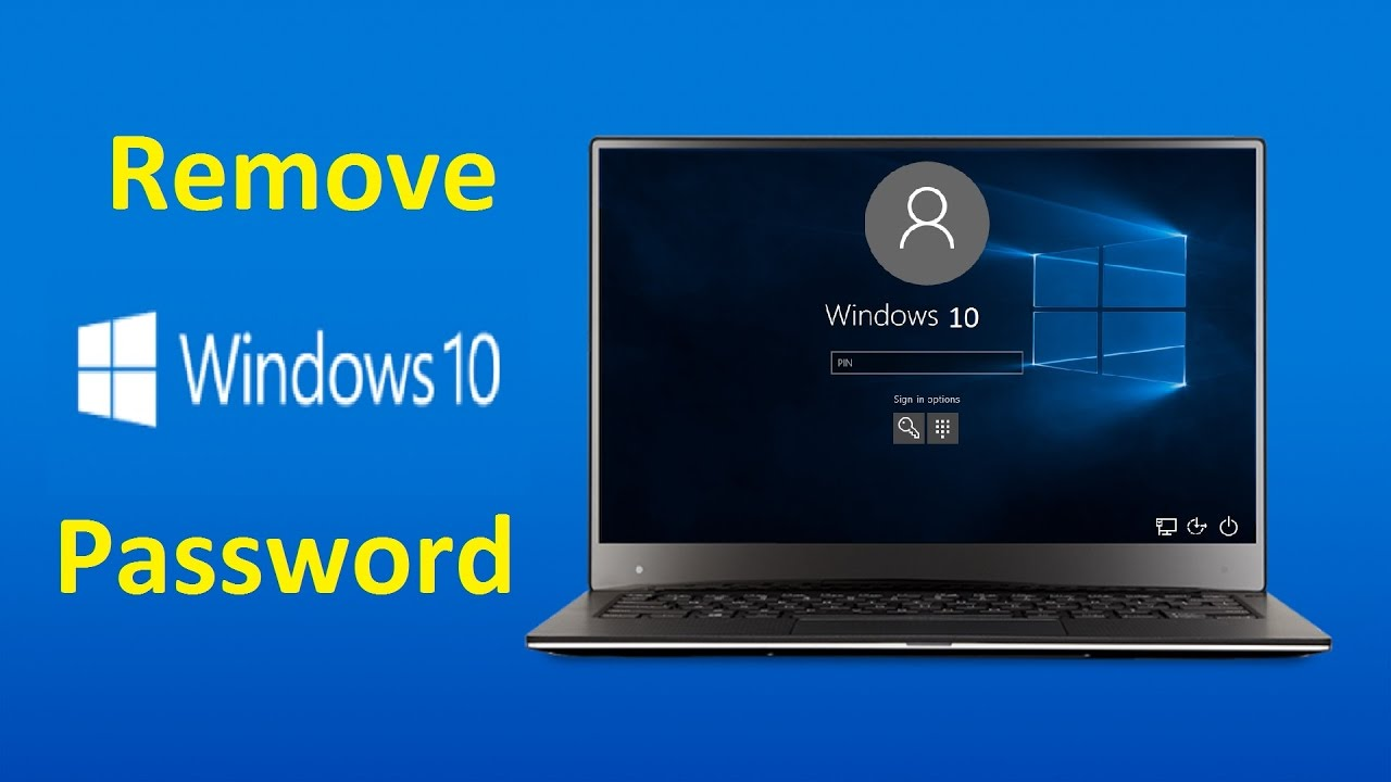 how to remove win 10 password