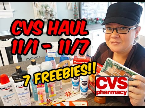 CVS HAUL 11/1 – 11/7 |  💃  7 FREEBIES & MORE!!!!