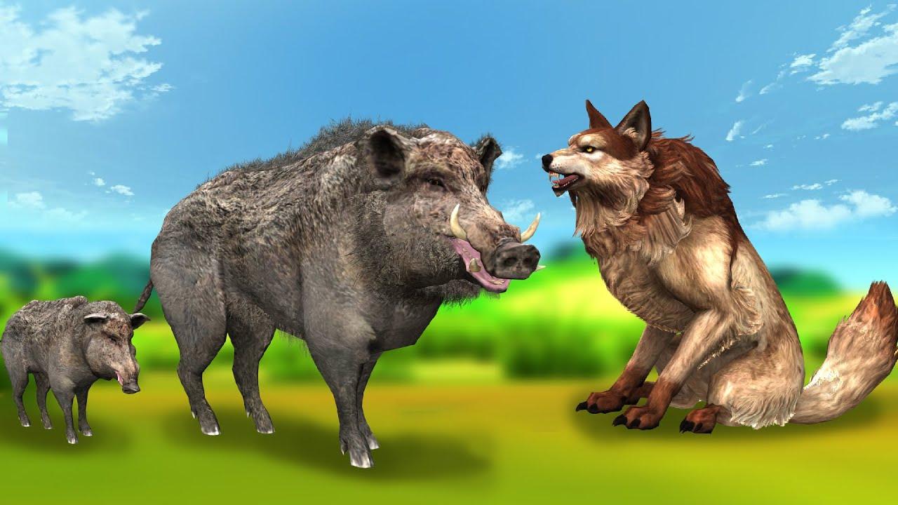 चलाख सुअर और मुर्ख भेदिया Clever Pig and Foolish Wolf Story Kahani Hindi Kahaniya Hindi Stories