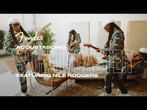 """Nile Rodgers Performs """"Inside The Box"""" with the Acoustasonic Stratocaster   Fender"""