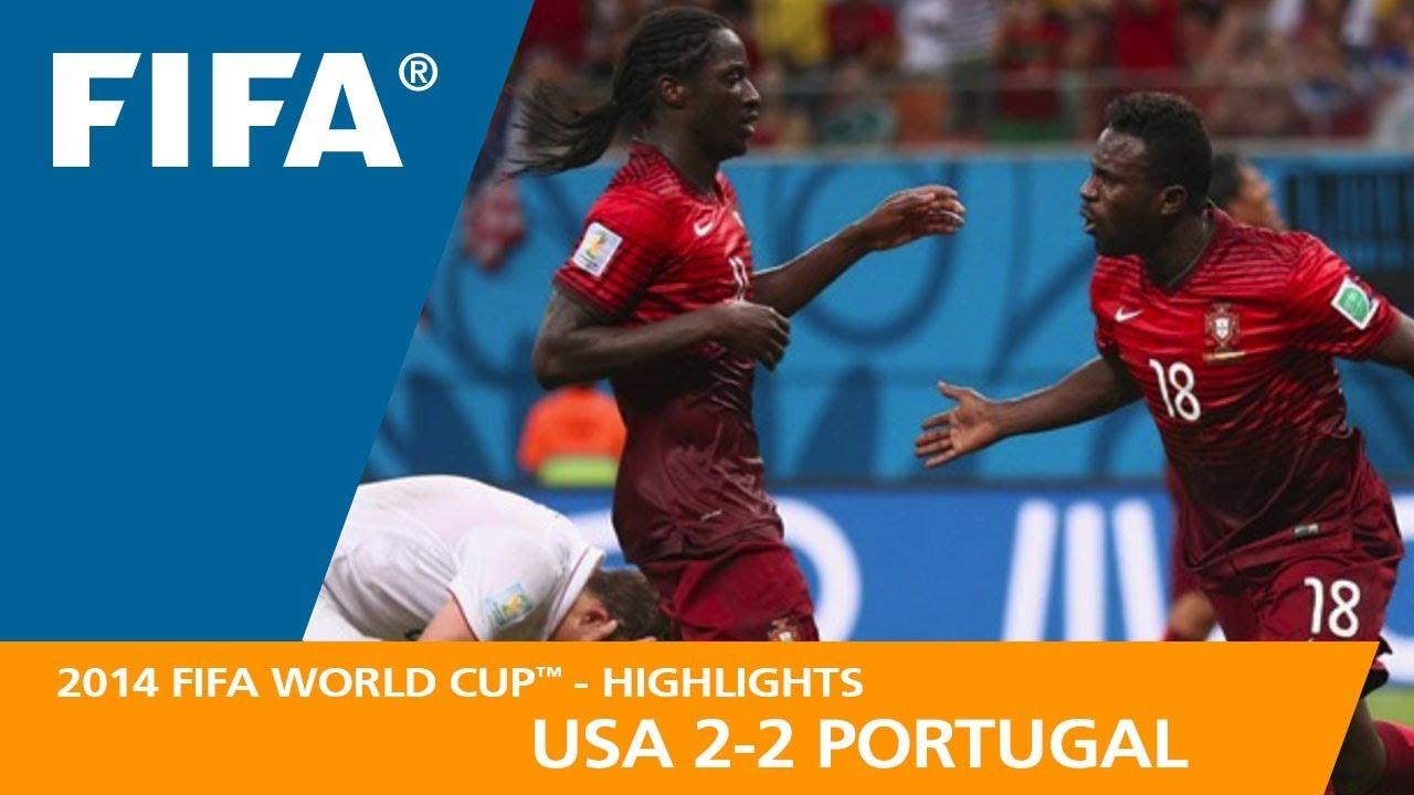 usa v portugal 2 2 2014 fifa world cup youtube