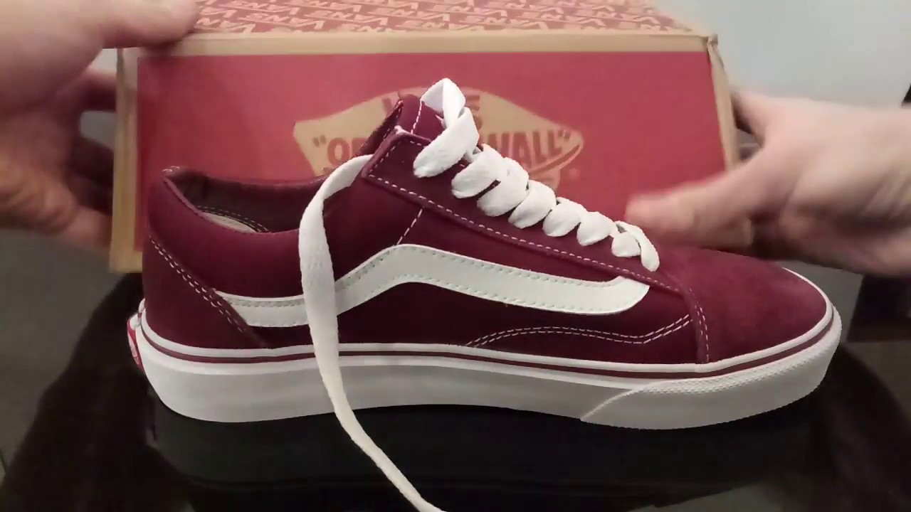 Видео обзор кеды Vans Old Skool Bordo