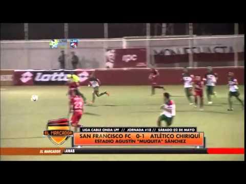 Gol del Atlético Chiriquí vs San Francisco || Miguel Saavedra