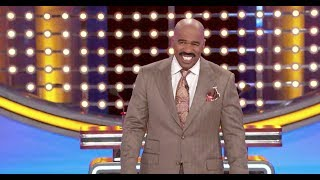 Family Feud | Steve's Reaction | Game Show Network