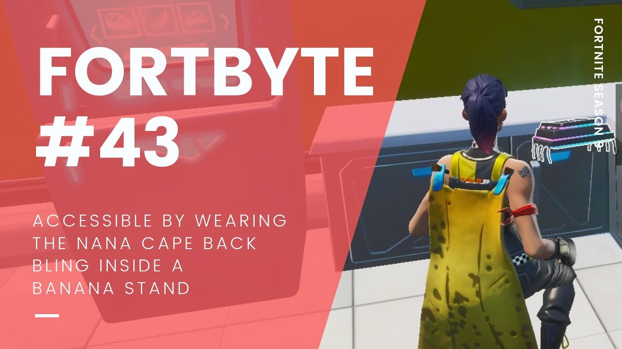 Fortnite Cape fortnite fortbyte #43 location: accessiblewearing the