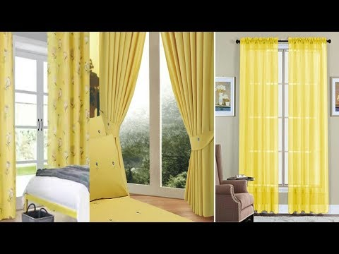 New Beautifully Yellow curtains designs for 2018
