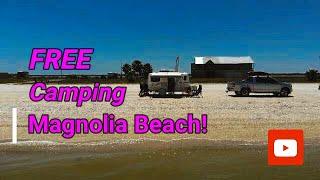Free Camping at Magnolia Beach, Texas!