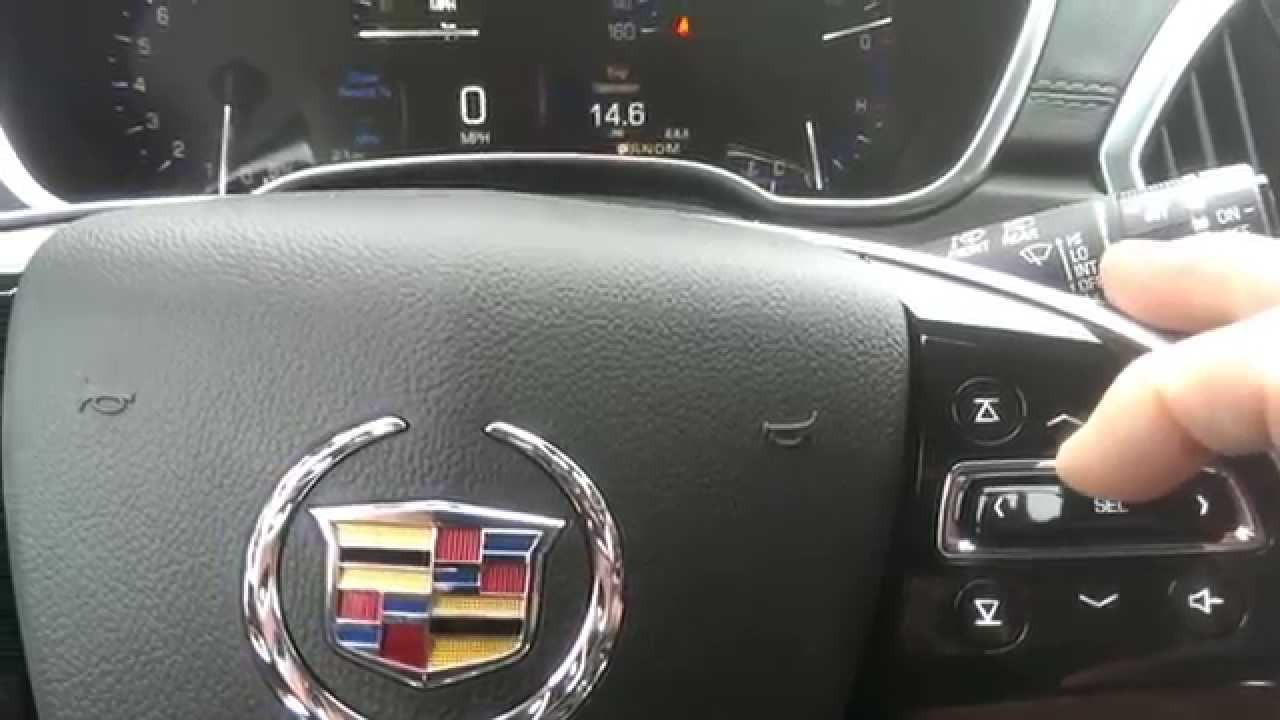 How To Display The Oil Life Monitor On A 2014 Cadillac Srx