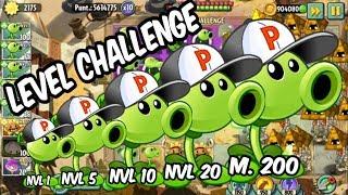 PvZ 2 - Epic - Competencia de Niveles - Lanzaguisantes Master 200 - All Level Peashooter