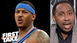 Stephen A. confirms Carmelo Anthony's name is being smeared in NBA circles | First Take