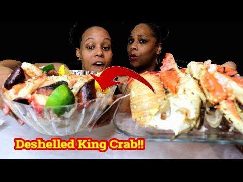 Deshelled King Crab Seafood Boil with Bloveslife Sauce