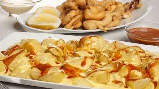 Receta de Patatas bravas y calamares fritos - Cocina con Bruno Oteiza