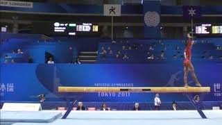 Gabrielle Douglas USA Balance Beam Team Qualifcation 2011 Tokyo World Championships