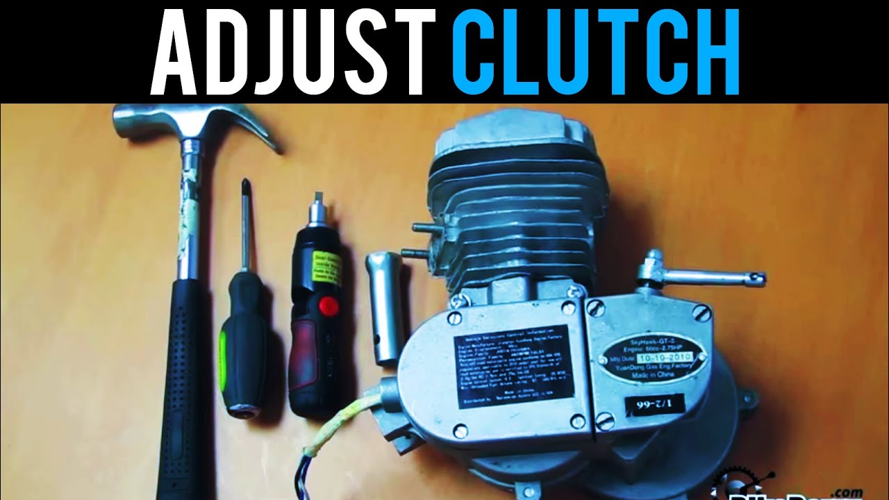 How To Adjust Your 2-Stroke Clutch - 48cc 50cc 66cc 80cc -Motorized Bicycle