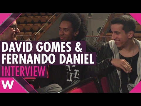 David Gomes and Fernando Daniel - Festival da Canção 2017 (INTERVIEW)