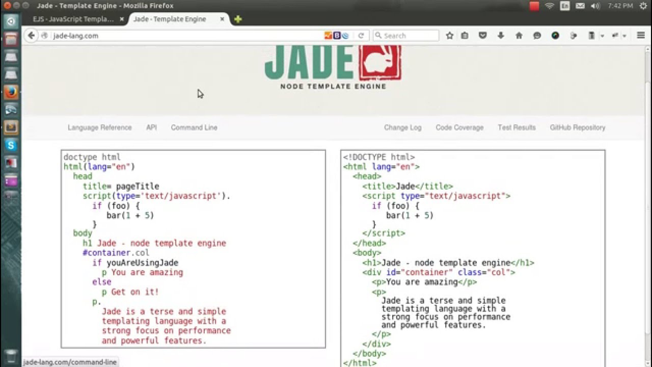 How to use EJS instead of JADE template engine in EXPRESSJS + NODEJS