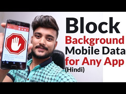 How To Block Background Mobile Data Usage Of Application - Hindi