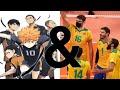 - 2 TO RECEIVE? Change in defense? - Karasuno & Brazil Haikyuu!! Vs Real Life
