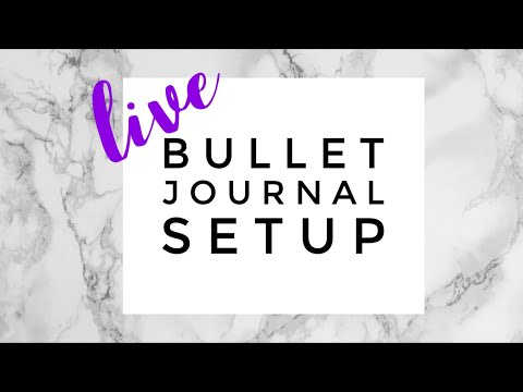 🔴 LIVE November Bullet Journal Setup