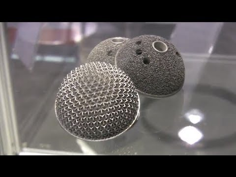 3d printing with metal, titanium & aluminum demo by EOS
