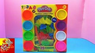 Play Doh 培乐多 手工彩泥 趣味 数字 英文 学习套装 Numbers, Letters 'n Fun 开箱 展示