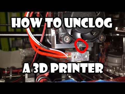 How to Unclog a Folger Tech Prusa i3 3D Printer