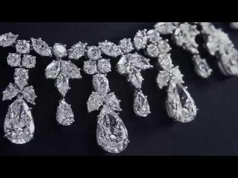 Harry Winston Cascading Diamond Drop Necklace