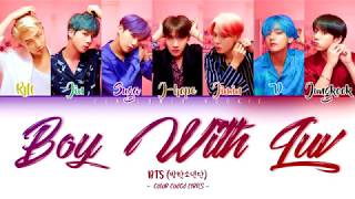 BTS (방탄소년단) - Boy With Luv (작은 것들을 위한 시) feat.  Halsey [Color Coded Lyrics Han|Rom|Eng|가사]