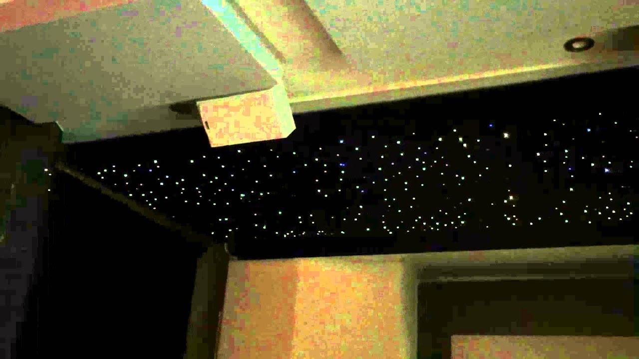Sternenhimmel im Wohnzimmer mit funkeleffekt - YouTube