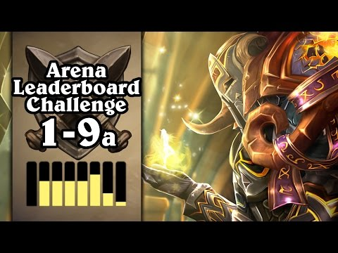 Hearthstone: Arena Leaderboard Challenge 1-9 - Too Much Equality - Part 1 (Paladin Arena)