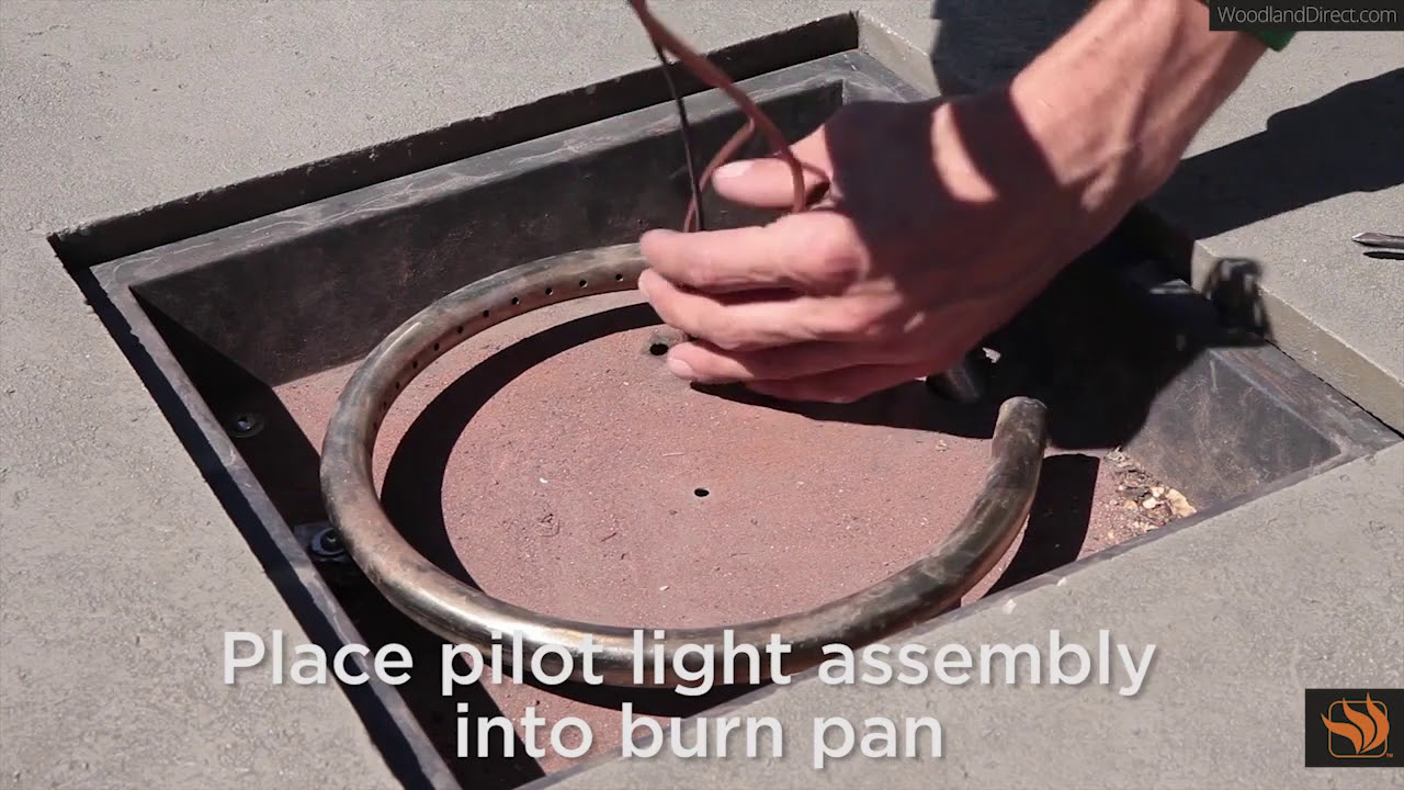 How To Replace The Pilot Light In A Real Flame Fire Pit Youtube