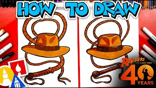 How To Draw Indiana Jones's Hat And Whip