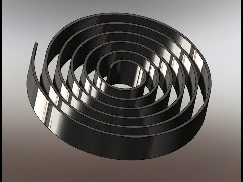 Solidworks Sheet Metal Spiral Spring Design With Flat