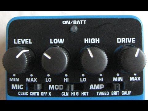 Behringer TM300 tube amp modeler effect pedal