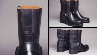 How Frye Harness Boots are made (30 seconds)