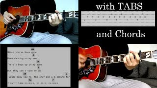 Clean Bandit ft. Demi Lovato - Solo (acoustic) w/Tabs on screen Video