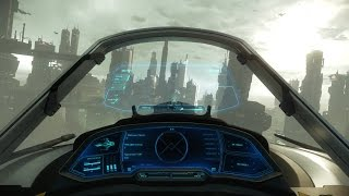 Star Citizen 1.2 - Flying Merlin at ArcCorp planet