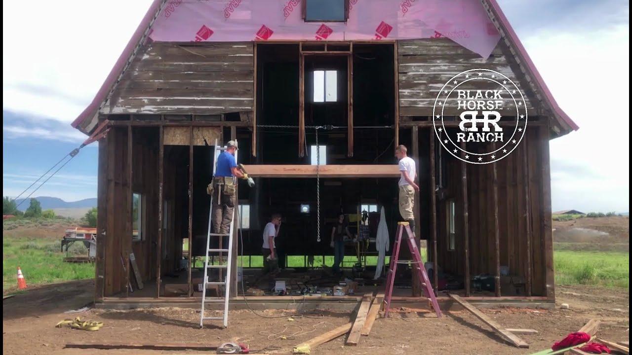 Historic Guest Barn Renovation,  Episode 13 Framing the end walls