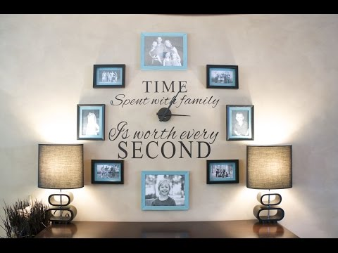 DIY: How to make a Family Clock Wall