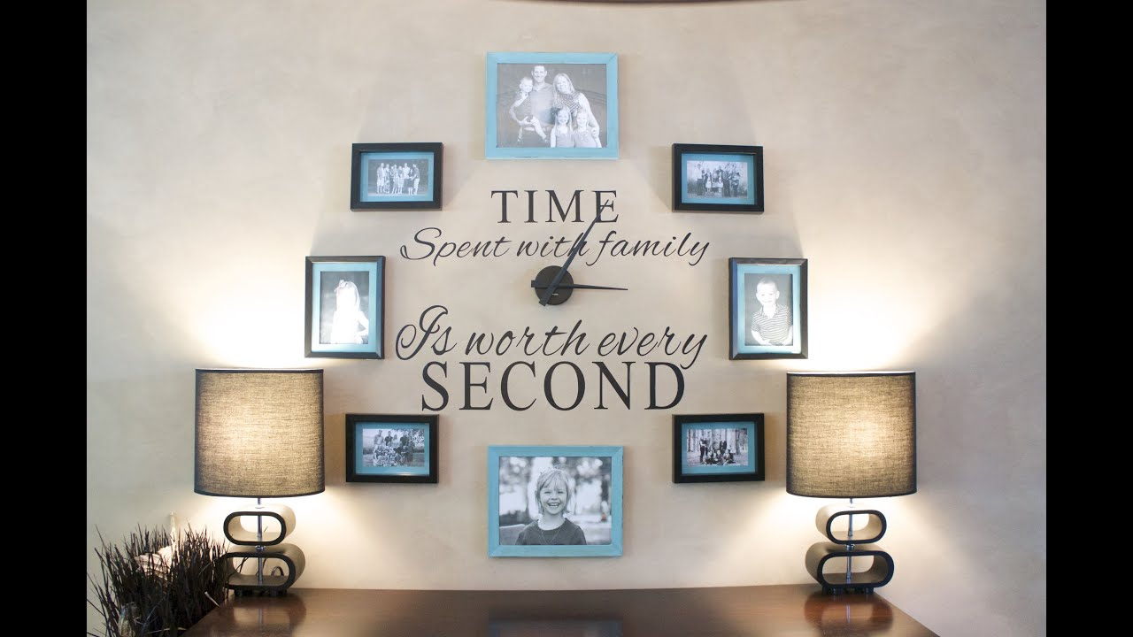 DIY: How to make a Family Clock Wall - YouTube