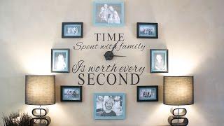 Diy Family Clock Wall