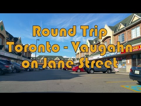 Summer Round Trip between Toronto and Vaughan on Jane Street, Ontario, Canada