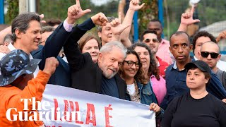 Supporters Cheer Brazil's Former President Lula As He Is Freed From Jail