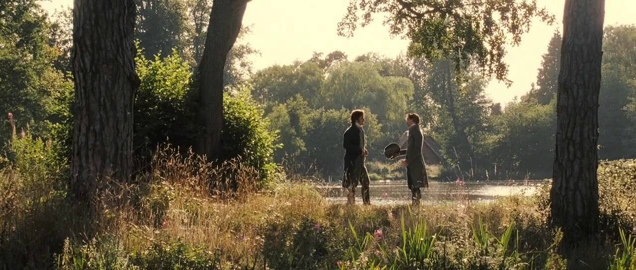 Image result for pride and prejudice 2005 darcy and bingley practice proposal
