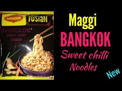 Bangkok Maggi Fusion Review    MAGGI Fusian Bangkok Sweet Chilli Noodles