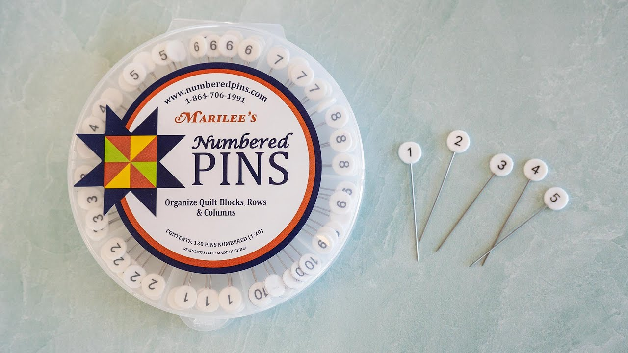 New Notion: Numbered Pins | Available at Shabby Fabrics
